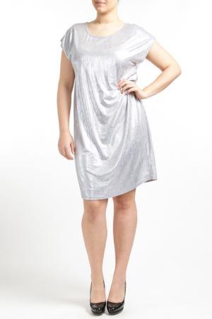 Платье Zizzi. Цвет: серебряный