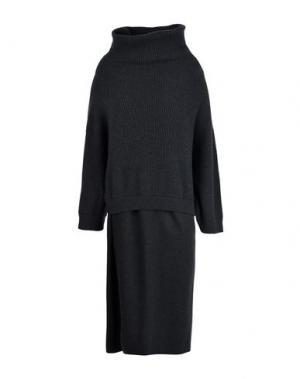 Длинное платье BRUNELLO CUCINELLI. Цвет: стальной серый