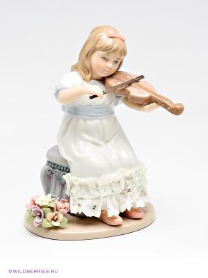 Фигурка Девочка со скрипкой Pavone. Цвет: белый
