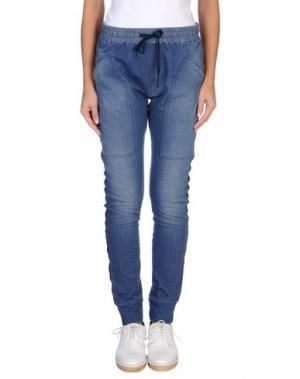 Повседневные брюки MANILA GRACE DENIM. Цвет: синий