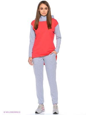 Спортивный костюм Габриэлла Runika. Цвет: серый меланж, коралловый