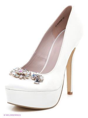 Туфли New Look. Цвет: белый