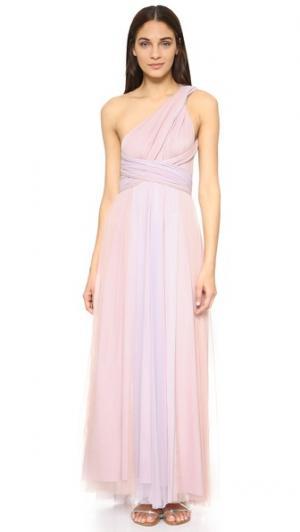 Бальное платье из тюля с эффектом «омбре» Twobirds. Цвет: розоватый/сиреневый