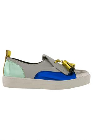 Кеды Grey Mer. Цвет: grey, blue, yellow