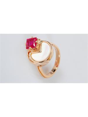 Кольцо Пперламутр - корунд Lotus Jewelry. Цвет: красный, белый