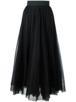 Плиссированная юбка Dolce & Gabbana. Цвет: чёрный