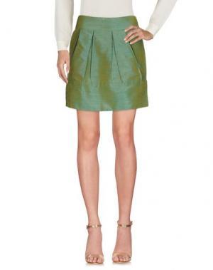 Мини-юбка M!A F. Цвет: кислотно-зеленый