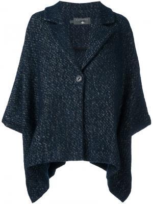 Расклешенное пальто Cotélac. Цвет: синий