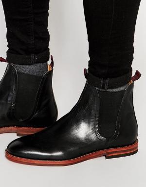 Hudson London Кожаные ботинки челси Tamper. Цвет: черный