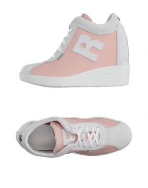 Низкие кеды и кроссовки RUCO LINE. Цвет: лососево-розовый