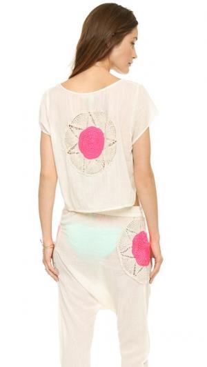Укороченная ажурная футболка Surf Bazaar