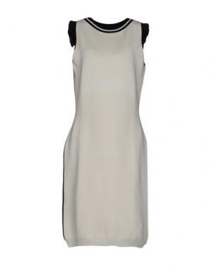 Платье до колена EMANUEL UNGARO. Цвет: слоновая кость