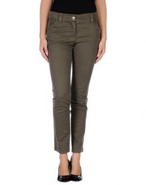 Повседневные брюки X'S MILANO. Цвет: зеленый-милитари