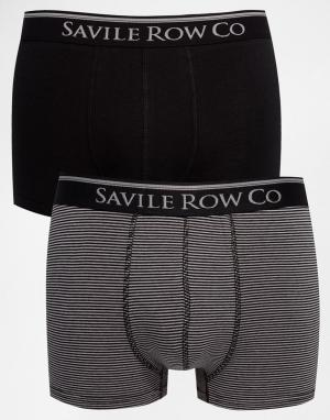 Saville Row Набор из 2 боксеров‑брифов Savile. Цвет: черный