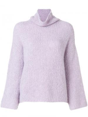 Джемпер-водолазка Lamberto Losani. Цвет: розовый и фиолетовый