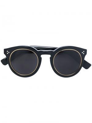 Солнцезащитные очки Leonard 2 Ring Illesteva. Цвет: чёрный