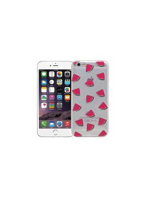 Чехол для iPhone 6/6s Арбузные дольки Kawaii Factory. Цвет: прозрачный, красный