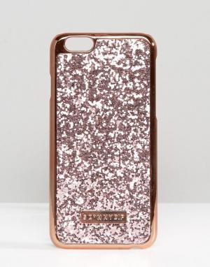 Skinnydip Розово-золотистый чехол для iPhone 6/6s с блестками. Цвет: мульти