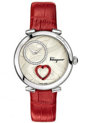 Часы Salvatore Ferragamo. Цвет: серебристый