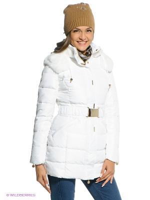 Пальто-пуховик CONVER. Цвет: белый