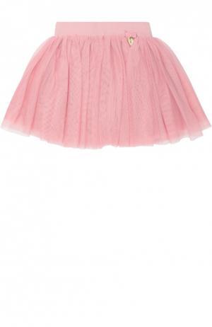 Пышная многоярусная юбка Angel's Face. Цвет: розовый