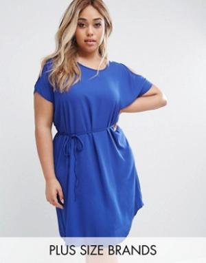 Koko Платье Plus. Цвет: синий