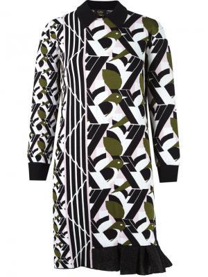 Asymmetric knit dress Gig. Цвет: белый