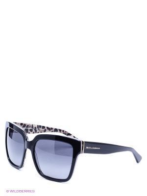 Очки солнцезащитные DOLCE & GABBANA. Цвет: черный, бежевый