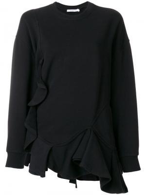 Толстовка с оборками Givenchy. Цвет: чёрный