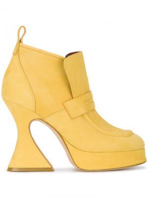 Ботильоны Ellen 110 Sies Marjan. Цвет: жёлтый и оранжевый