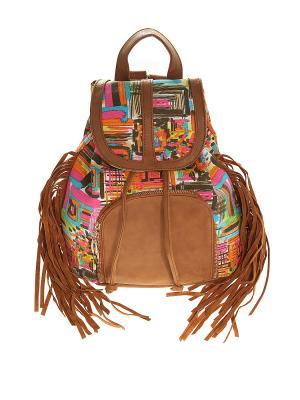 Рюкзак Olere. Цвет: коричневый, оранжевый, розовый