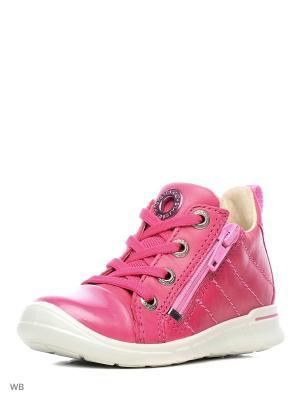 Ботинки ECCO. Цвет: малиновый