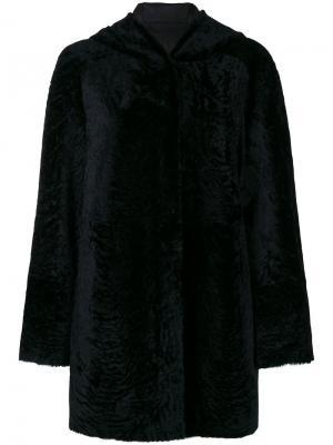 Двухстороннее пальто с капюшоном Drome. Цвет: чёрный