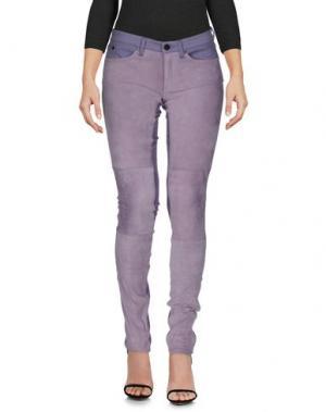 Джинсовые брюки SUPERFINE. Цвет: сиреневый