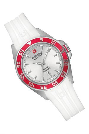 Watch Swiss military. Цвет: silver and white