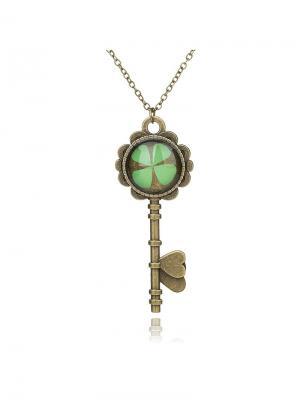 Подвеска Ключик к удаче Honey Jewelry. Цвет: бронзовый