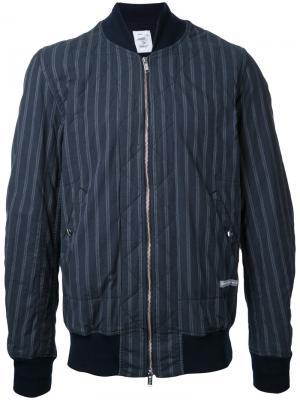 Полосатая куртка-бомбер Undercover. Цвет: синий