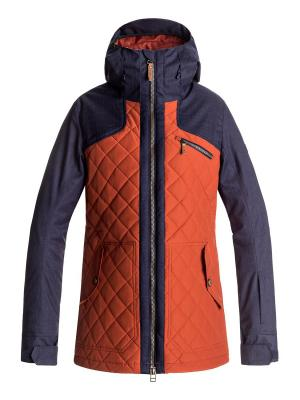 Куртка сноубордическая ROXY. Цвет: рыжий, бронзовый, оранжевый
