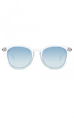 Солнцезащитные очки bandwagon Le Specs. Цвет: синий