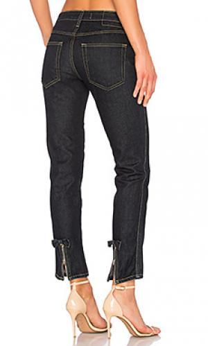 Укороченные джинсы bow AMO. Цвет: none