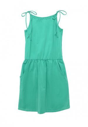 Платье Emdi. Цвет: зеленый