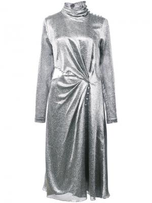 Платье с вырезными деталями Prabal Gurung. Цвет: металлический
