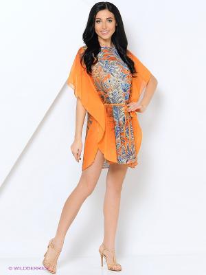 Туника Ваша Шляпка. Цвет: оранжевый, синий, бежевый