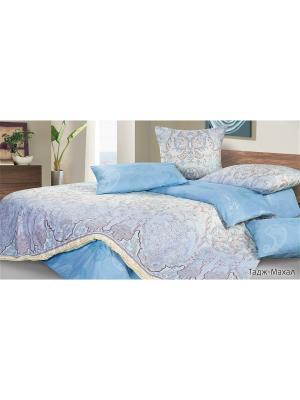 Постельное белье Тадж-Махал ECOTEX. Цвет: светло-голубой