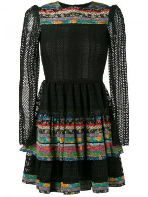 Многослойная юбка с оборками Philosophy Di Lorenzo Serafini. Цвет: чёрный