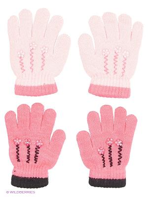Перчатки FOMAS. Цвет: бледно-розовый, розовый, черный