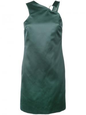 Платье с лямкой на кольце Nomia. Цвет: зелёный