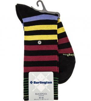 Хлопковые носки в полоску Burlington. Цвет: черный
