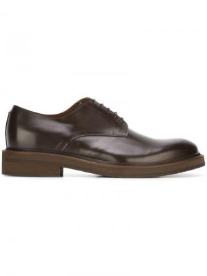 Классические туфли Дерби Eleventy. Цвет: коричневый