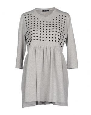 Короткое платье ODI ET AMO. Цвет: светло-серый